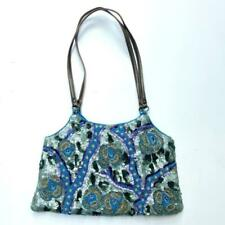 Jamin Puech Vintage Floral Sequin Beaded Evening Bag Blue Green