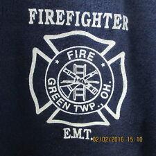 Green Twp. FD Navy Blue FF/EMT T-shirt, Never worn, Old Version, No Longer Used