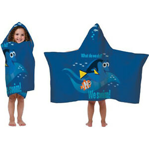 """Disney Finding Dory Hooded Towel100% Cotton 22"""" x 51"""""""