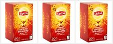 3 Lipton Daring English Breakfast Black Tea Bags, 20 Count Each, Pack of 3