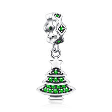 JewelryPalace Christmas Tree Cubic Zirconia 925 Sterling  Silver Charm Beads