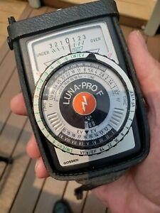Gossen Luna-Pro F Light Meter with Case And Lanyard