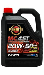 Penrite MC-4ST V Twin 20W-50 100% Pao & Ester 4L