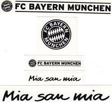 5 Aufkleber + Auto + FC Bayern München + Schwarz + NEU + Waschanlagensicher + #3