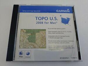 Garmin Topo US 2008 for Mac 1:100,000 Topographic Maps DVD S/N B200001767 Rev A