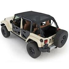 Jeep Wrangler JK Mesh Extended Soft Top 2010-2017 4 Door Black Smittlybilt 94600