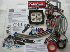 *NEW EDELBROCK VICTOR JR HOLLEY DOMINATOR NITROUS PLATE KIT 175-400HP W/EXTRA'S