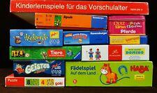Konvolut (4) 11 Spiele, Lernspiele, Kinderspiele, Ravensburger, HABA, Zoch