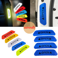 New Blue 4PCS Super Car Door Open Sticker Reflective Tape Safety Warning Decal