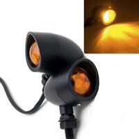 2pcs Heavy Duty Motorcycle Bullet Turn Signals Indicator Blinkers Light Retro