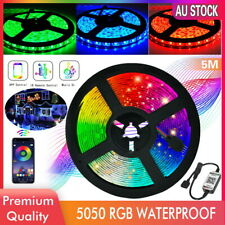 5050 RGB LED Strip Lights IP65 Waterproof 5M 300 LEDs 12V + Bluetooth Controller
