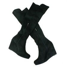 Chinese Laundry Lavish/Lovey Suede Over the Knee Wedge Fashion Boots Size 8.5