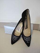 Women's Shoes PETER KAISER Black suede VIANE heel US sz 8.5 EU 6 New Box GERMANY