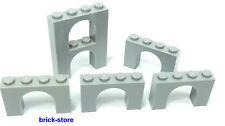 LEGO®  hellgraue 1x4x2 Bogensteine / Brückensteine / 6 Stück