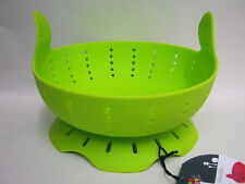 New Zeal Silicone Collapsible Flexible Rice Vegetable Steamer M126 Lime Green