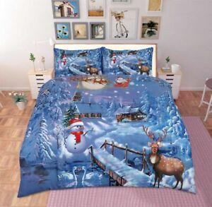 Christmas Hot selling Duvet Cover Festive Season UK Bedding Set with Pillow Case
