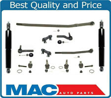 Fits Ford E250 E350 450 SRW 92-06 Tie Rods Drag Link Ball Joints Shocks 12Pc Kit