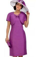 JACQUES VERT Purple Dress Bolero Jacket Outfit Suit Mother of the Bride Size 20