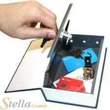 Secret Dictionary Book Safe Money Metal Cash Security Box Lock Hidden Stash Keys