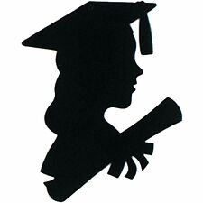 "6 pieces Girl Graduate Silhouette 8"" x 12"" by Beistle, decoration pin up"