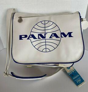 "PAN AM ""Messenger Reloaded"" Bag Original Certified Vintage Style Pan Am White"