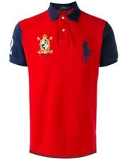 Hommes Ralph Lauren Premium Big Pony Custom Fit Rouge Bleu Marine manches XL T-Shirt £ 0.99
