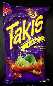USA Takis Fuego Hot Chili Pepper & Lime Tortilla Chips 280.7g ..