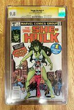 Savage She-Hulk #1 CGC 9.8 SS WP (Newsstand Ed) Signed by Stan Lee & Joe Sinnott