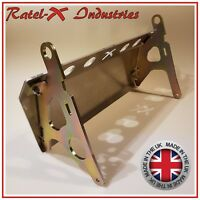 Land Rover Defender Steering Guard Aluminium Bash Plate Sump Guard Ratel-X RHD