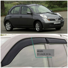 Wide Window Visors Side Guard Vent Deflectors For Nissan Micra 5d K12 2003-2010