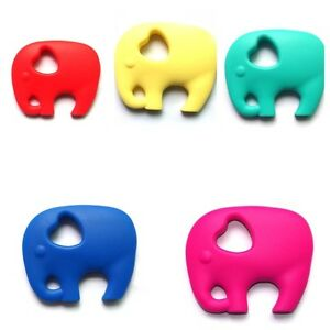 New Lily Bear Silicone Elephant Baby Teething Necklace and Toy Soother