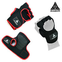 Ambick Padded Weight Lifting Grips Gym Workout Training Gloves Long Wrist Wrap