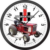 International Harvester IH Cub Lo Boy Farm Tractor Picture Art Wall Clock Clocks