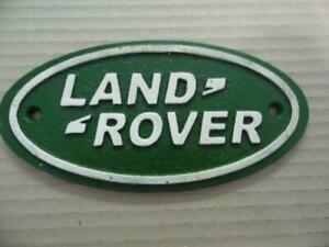 SUPER ANTIQUE VINTAGE STYLE CAST IRON ADVERTISING SIGN *LAND ROVER* WALL PLAQUE