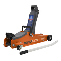 XMAS2020 Trolley Jack 2 Tonne Low Entry Short Chassis Stand Jack - ORANGE