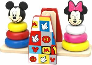 Multi Colour Wooden Stacker Building Blocks Stacking Disney Baby DIY Toy