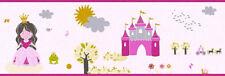 Tapeten Bordüre Schloss Prinzessin Froschkönig rosa pink gold 35853-1 girls