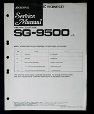 Pioneer SG-9500 Original Additional Service Manual/Guide/ WIRING DIAGRAM! O28