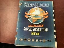 Design 1950's 1956 or 1957 KENT-MOORE RATE-MAKER SPECIAL SERVICE TOOL MANUAL *