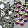 144~1440pcs Gava Flatback Rhinestones Crystal AB/Clear SS3~40 Nail Art Crystal