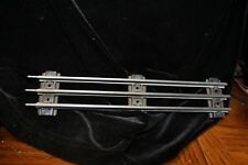 "Lionel O gauge straight track  10"" Lg, w/pins, 8 pieces, used, C-5/6, Ships Free"