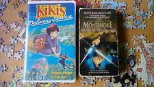Hayao Miyazaki Kiki's Delivery Service Princess Mononoke VHS 2 Lot