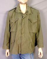 vtg 60s 70s Vietnam Era US Army Men's Field Jacket OG-107 M-65 Sateen L/XL