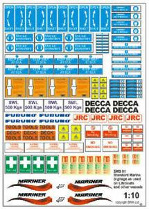 Becc Standard Marine Signage Vinyl Decals Scale 1:16
