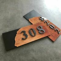 Customized 3D House Number Sign Sticker Door Plate Digits Home Sticker Plaque