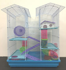 5 Level Large Twin Tower Syrian Hamster Habitat Rodent Gerbil Degu Mice Cage -