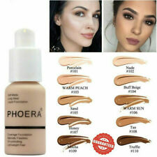 Pro PHOERA Matte Full Coverage Liquid Foundation Conceale Powder Face Cream