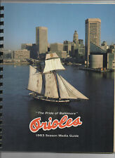 1983 ALCS Press Radio Media Guide Baltimore Orioles vs Chicago White Sox