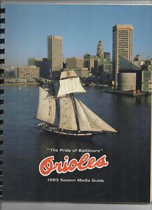 1983 ALCS Press Radio Media Guide Baltimore Orioles vs Chicago White Sox