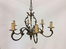 Antique Style Brass 6 Arm Chandelier
